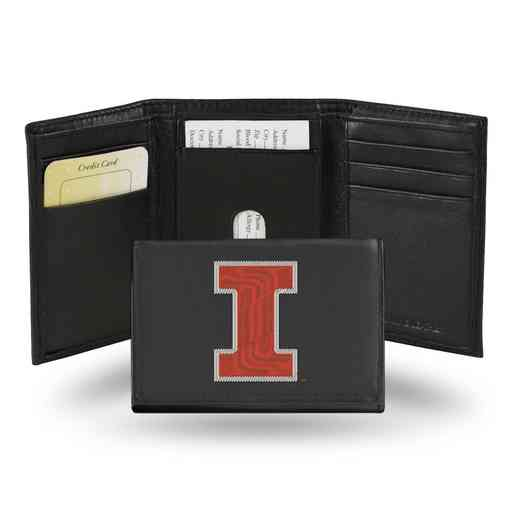 RTR400102: NCAA RTR Trifold Wallet, Illinois